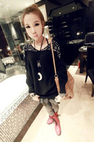 Wholesale autumn and winter elegant pearl beading long sleeve o neck sweater women s sweater