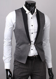 Wholesale New Style Men s Vest Men Waistcoat Snooker Player Vest Chain decoration Vest
