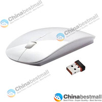 Wholesale Special Offer G Wireless mouse and mice super slim mouse Optical Mouse for PC Laptop White