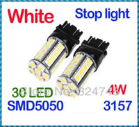 Wholesale Car Additional Brake Lights White SMD LED Car Brake Stop Lamp Light Bulb