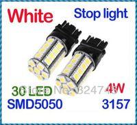 Wholesale Car Additional Brake Lights White SMD LED Car Brake Stop Lamp Light Bulb