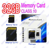 Wholesale DHL GB Class Micro SD TF Memory Card With Adapter Retail Package Flash SD SDHC Cards Hot