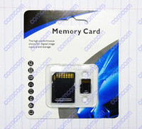 Wholesale 50pcs GB Class Micro SD TF Memory Card with Adapter Retail Package Flash SD SDHC Cards Free DHL