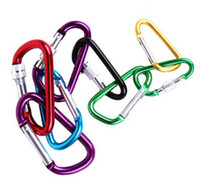 Wholesale hot selling Carabiner Camp Snap Clip Hook Keychain Hiking mixed color