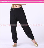 Belly Dancing Ruffled Cotton Belly dance pants dancing costume tribal harem latern cotton yoga training pants