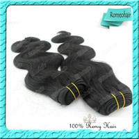 Wholesale 100 Malaysian Virgin Weave Remy Human Hair Weft Body Wave Natural Color Freeshipping g pc