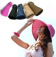Wholesale HOT Selling Fashion Womens Girls Wide Large Brim Summer Beach Sun Hat Beach Straw Cap Good