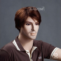 Wholesale Male Glamorous Charming brown straight Kanekalon Synthetic Wig Hair High quality H9103Z