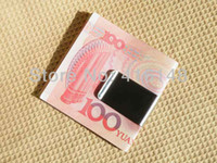 Wholesale 10pcs New Money Clip Stainless Steel Small Silver Slim