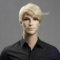 Wholesale Male Glamorous Charming fashion blond wave Kanekalon Fiber Synthetic Wig Hair H9106Z