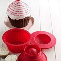 Wholesale HOT Selling Pack of Cupcake Cake Mould Giant Silicone Big Top Cupcake Bake Set Baking Mold