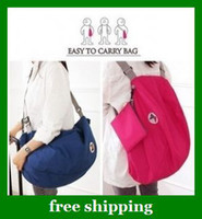 Wholesale Nylon Multifunction Storage Shoulder Bags Fold Backpack Travel women Cosmetic Handbags
