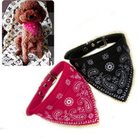 Wholesale S5Y Small Adjustable Pet Dog Puppy Cat Neck Scarf Bandana with Collar Neckerchief