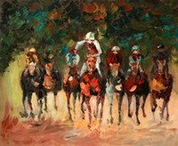 Wholesale Knife Oil Painting Knife Ride Horse Art Painting Handmade Knife Wall Art Paintings On Canvas