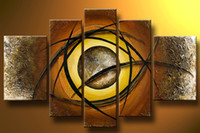 Wholesale Artist Imession Art Group Painting Five Pieces Impressivel Handmade Oil Painting With Frame