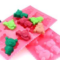 FDA bear cake pan - B0094 silicone bear cake pan tray bear muffin cake tray moulds baking mold tray