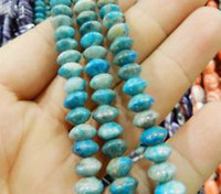 Wholesale 5X8MM LARIMAR BLUE CRAZY LACE AGATE RONDELLE BEADS quot