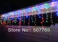 Wholesale 6m m LEDs flashing lane LED String lamps curtain icicle Christmas home garden festival lights