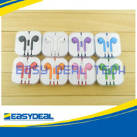 Wholesale Colorful Earphone for Iphone Headphone Earbods Headset w Mic amp Volume Control for Iphone5 g