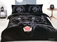 Adult Twill 100% Cotton 3D Black Panther leopard bedding set king queen size comforter duvet cover bedspread bed in a bag sheet sheets quilt linen print 100% cotton