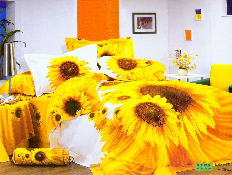 Sunflower Bedding Sets Queen Bedspread Yellow Doona Duvet