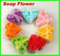 Wholesale Lowest Price Bath Body Flower Heart Soap Rose Petal Gift Wedding Favor Colors Soap