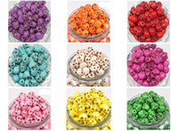 Wholesale Skull Turquoise Gemstone Loose Beads Charms Skull Bead Fit Diy Handcraft mm mix