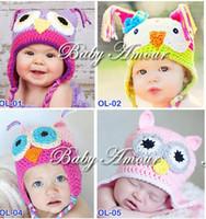 Boy crochet hats wholesale - Toddler Owl EarFlap Crochet Hat Baby Handmade Crochet Hat Handmade OWL Beanie Knitted hat