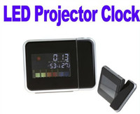 Digital   Digital LCD Screen LED Projector Alarm Clock Weather Station Freeshipping Dropshipping Wholesale