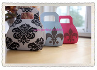 Cheap FREE SHIPPING--Damask Pattern Mini Handbag Wedding Favor Boxes,candy box (XY-00F)