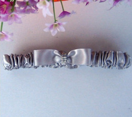 Wholesale TOP quality silver bow rhinestone Bride Garter come with bow