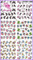 Wholesale CARTOON ANIMAL MEDIUM WATER DECAL NAIL ART NAIL TATTOOS STICKER