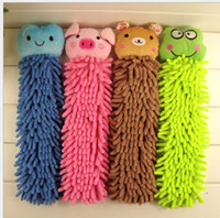 Wholesale Microfiber cartoon kitchen hand towel suspension type microfiber chenille Strong Absorbent