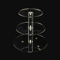 Wholesale Christmas Tier Crystal Clear Circle Acrylic Cupcake Stand Wedding Party High Tea Decor Display
