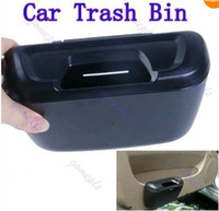 Wholesale HOT Selling Mini Auto Car Trash Rubbish Can Garbage Dust Case Holder Box Bin Black