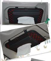 Wholesale Car Auto Sun Visor Tissue Box Holder Paper Napkin Clip CD DVD Case Bag Pack Organizer Pocket Storage