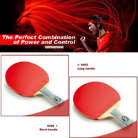 Wholesale One piece Best PingPong racket Double Happiness Table Tennis Racket Ping Pong table for Long