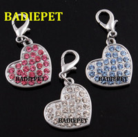 Wholesale Hot Sell Colors Solid Heart Crystal Dog Cat Pet Pendant Charm Fashion Pet Jewelry Pet Jewelry Pet Pendant Pet Supply Pet Product