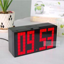 Wholesale Multifuntional Large Big LED Jumbo Alarm Wall Clock Table desktop Display Digital Table Calendar Weather Countdown Timer Clocks temperature