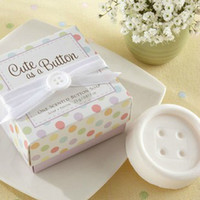 Wholesale Cute Button Scented Soap Wedding Favors Baby Shower Bridal Birthday Gifts