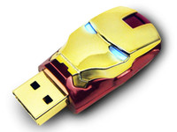 Wholesale Genuine2gb gb gb gb gb ironman USB Flash Drive pen drive memory stick with light UM0089