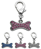 decoration jewelry colors - Mix colors Rhinestones Bone Dog Pet Collar Pendant Charm Fashion Dog Pet Jewelry Decorations Dog Pet Supplies Pet Product