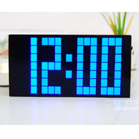 Wholesale Large blue LED Jumbo Alarm Wall Clock Display Digital Table Watch Weather Countdown Timer Clocks