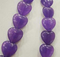 Heart-shaped amethyst heart shaped gemstone - Heart shaped x10mm Russian Amethyst Gemstone Purple Heart Loose Beads quot