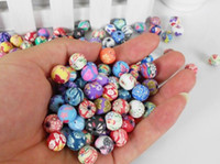 Wholesale 200pcs Rondelle Handmade Polymer Clay Fimo beads Fit Bracelet Necklace mm