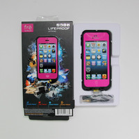 Wholesale Rose Pink Case for New iphone Water Dirt Snow Shock Proof Cases in Retail Packaging