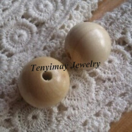 Wholesale mm Wood Loose Beads Original Color Round Wooden Beads