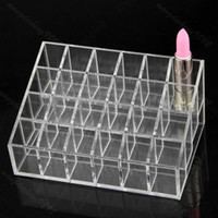 Jewelry Boxes   Hotsale Clear 24 Makeup Lipstick Cosmetic Storage Display Stand Holder 96pcs
