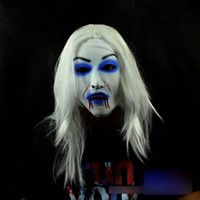 Wholesale Bride With White Hair style mixed party hot sale Halloween latex horror mask