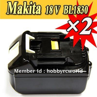 Wholesale 2 PACK Makita v Lithium Ion Battery BL1830 for power tool A